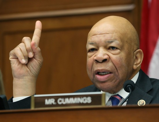 WASHINGTON, DC - MARCH 15: Ranking member Elijah Cummings (D-MD), speaks during a House Oversight and Government Reform Committee hearing, about the Flint, Michigan water crisis, on Capitol Hill March 15, 2016 in Washington, DC. The committee heard testimony regarding the Federal Administration of the Safe Drinking Water Act in Flint, Michigan. (Photo by Mark Wilson/Getty Images)